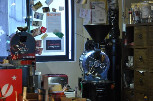 Two coffee roasters at Coffee Lab